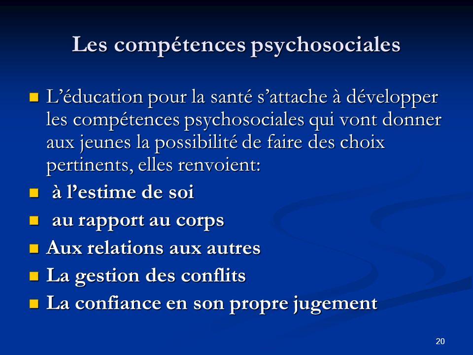 Les compétences psychosociales