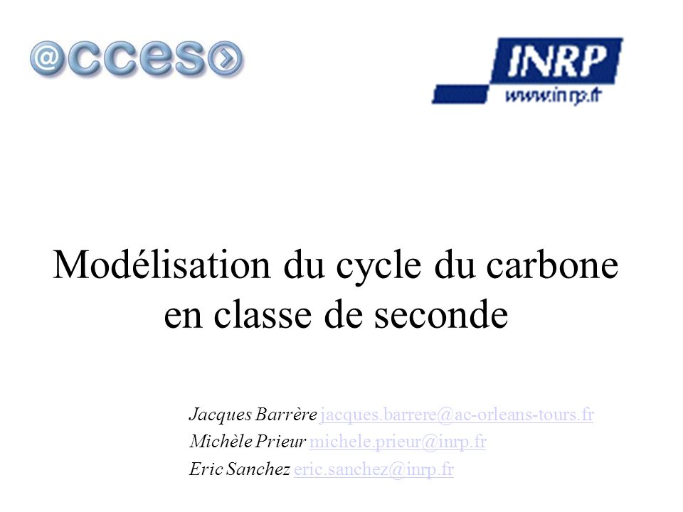 Modélisation du cycle du carbone en classe de seconde