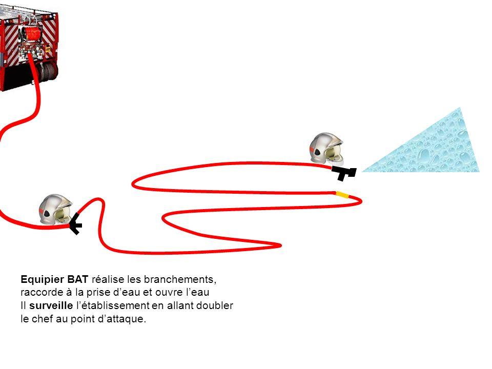 Equipier BAT réalise les branchements,