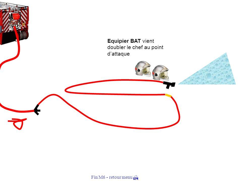 Equipier BAT vient doubler le chef au point d'attaque
