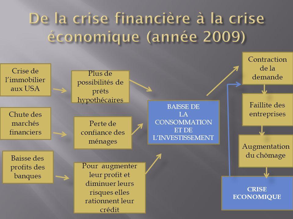 De la crise financière à la crise économique (année 2009)