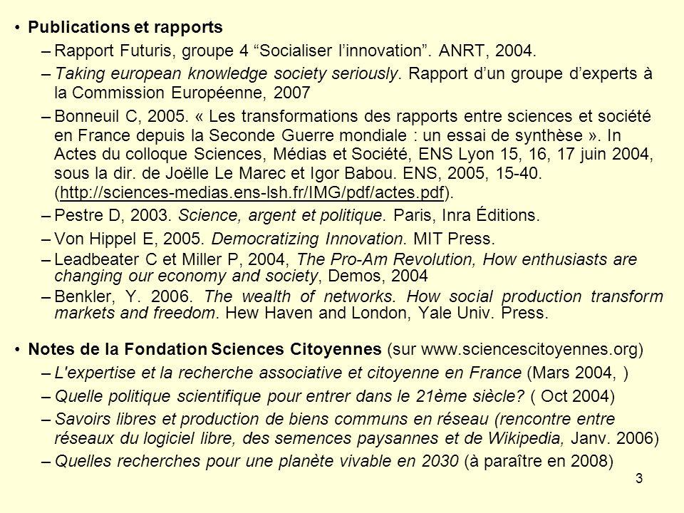 Publications et rapports