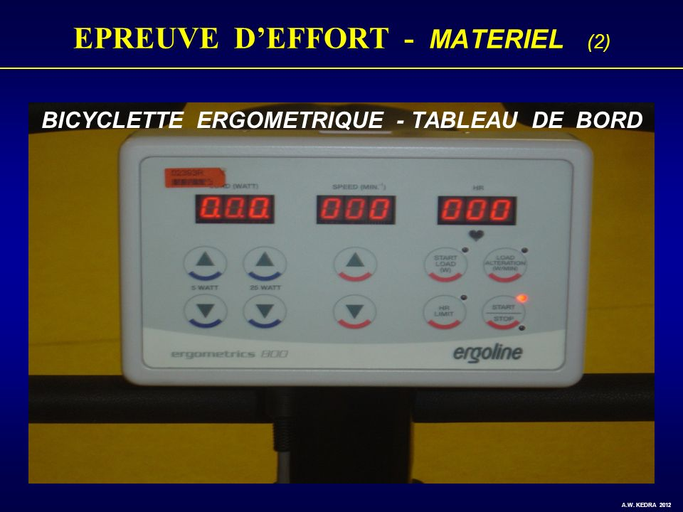 EPREUVE D'EFFORT - MATERIEL (2)