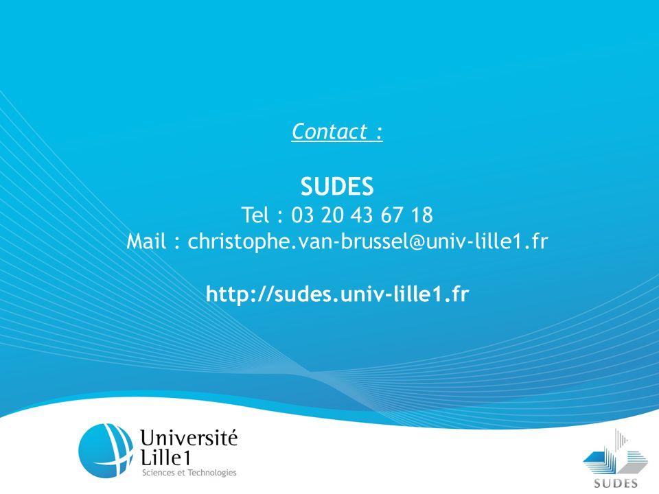 Mail : christophe.van-brussel@univ-lille1.fr