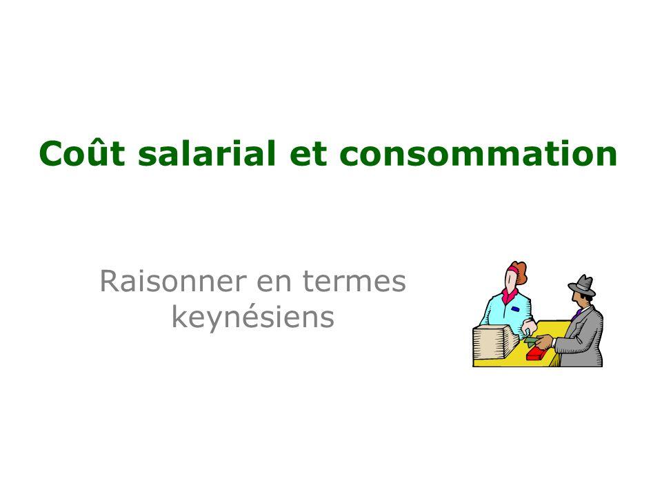 Coût salarial et consommation