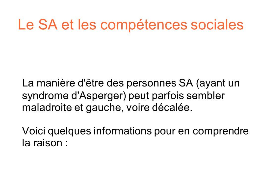 Le SA et les compétences sociales