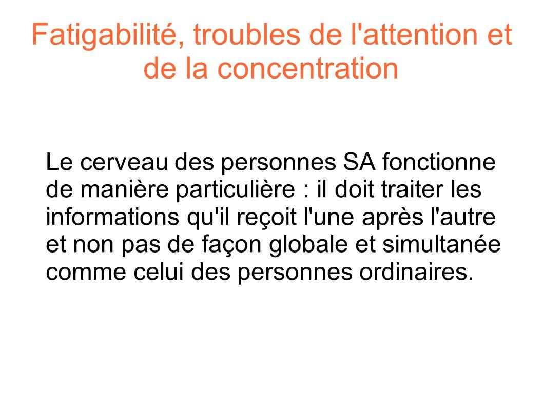 Fatigabilité, troubles de l attention et de la concentration