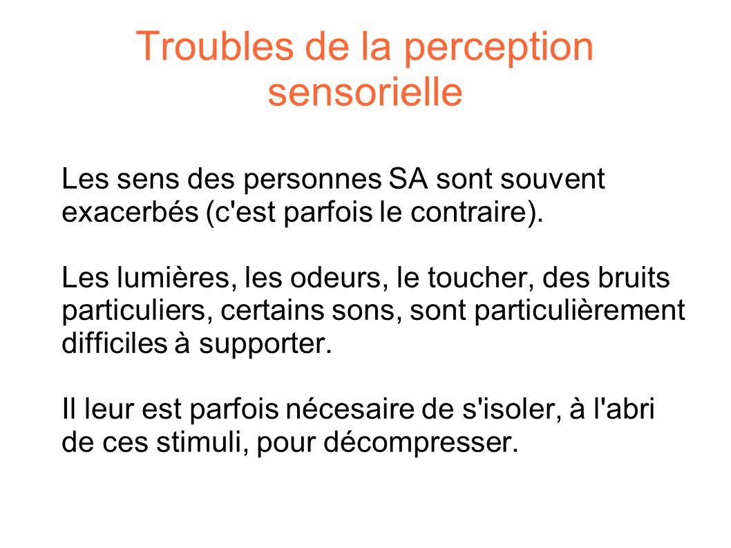 Troubles de la perception sensorielle