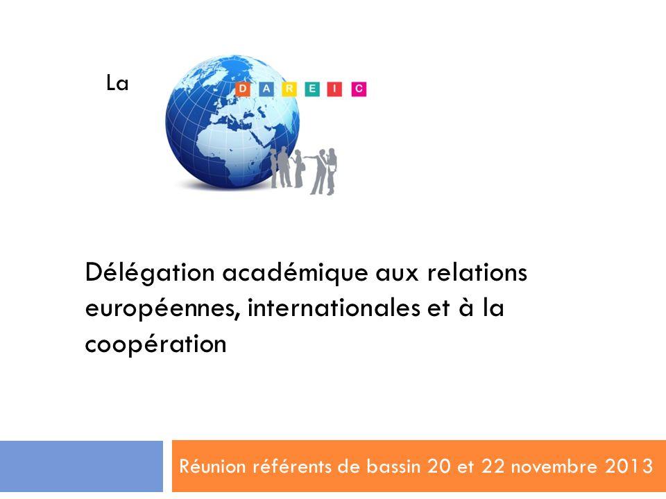 Réunion référents de bassin 20 et 22 novembre 2013