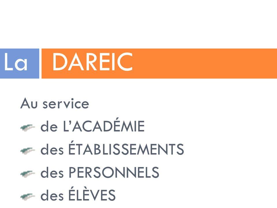 La DAREIC Au service de L'ACADÉMIE des ÉTABLISSEMENTS des PERSONNELS