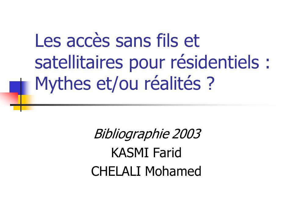 Bibliographie 2003 KASMI Farid CHELALI Mohamed