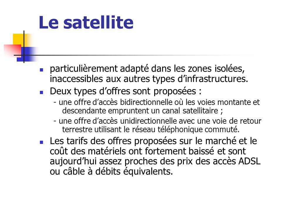 Le satellite particulièrement adapté dans les zones isolées, inaccessibles aux autres types d'infrastructures.