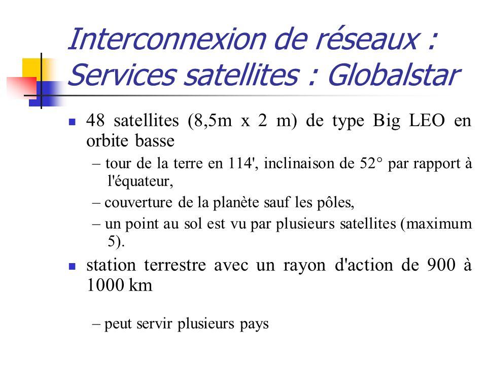 Interconnexion de réseaux : Services satellites : Globalstar