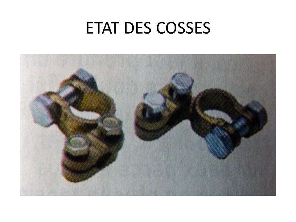 ETAT DES COSSES