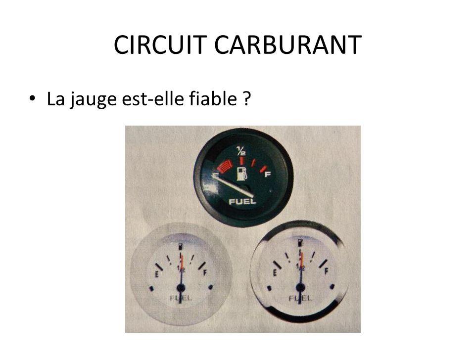 CIRCUIT CARBURANT La jauge est-elle fiable