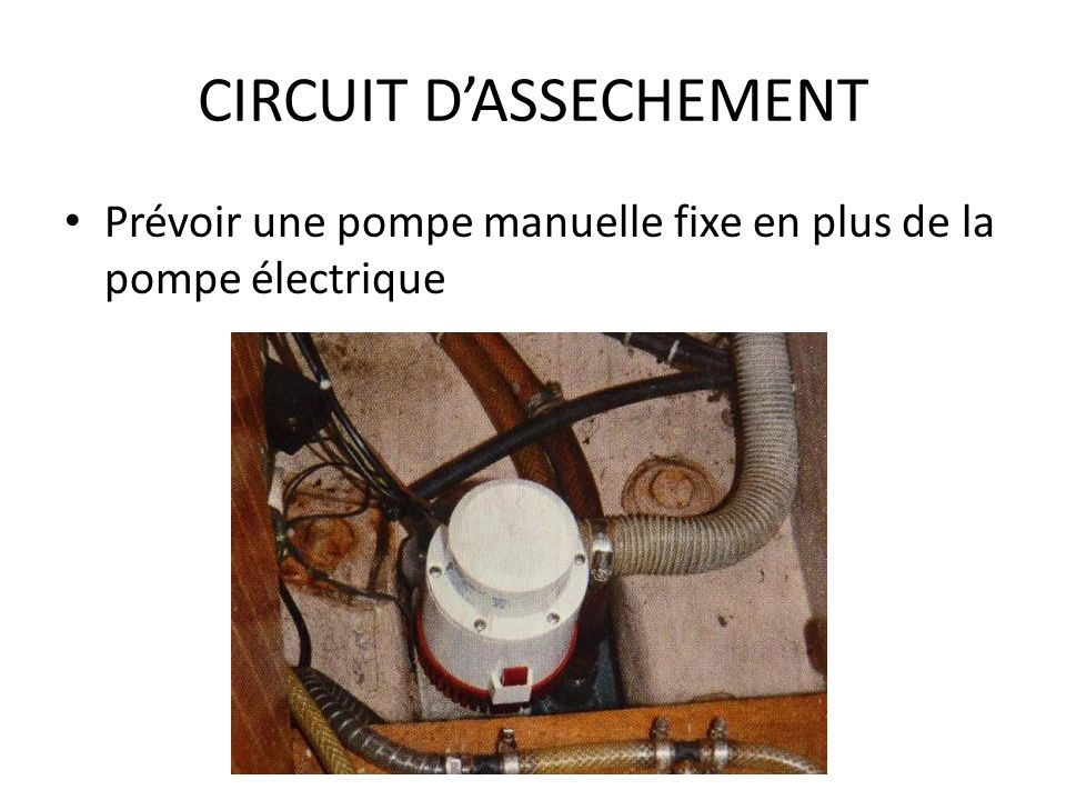 CIRCUIT D'ASSECHEMENT