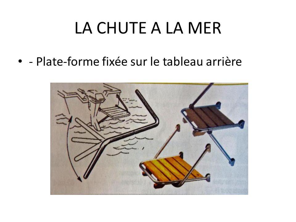 LA CHUTE A LA MER - Plate-forme fixée sur le tableau arrière