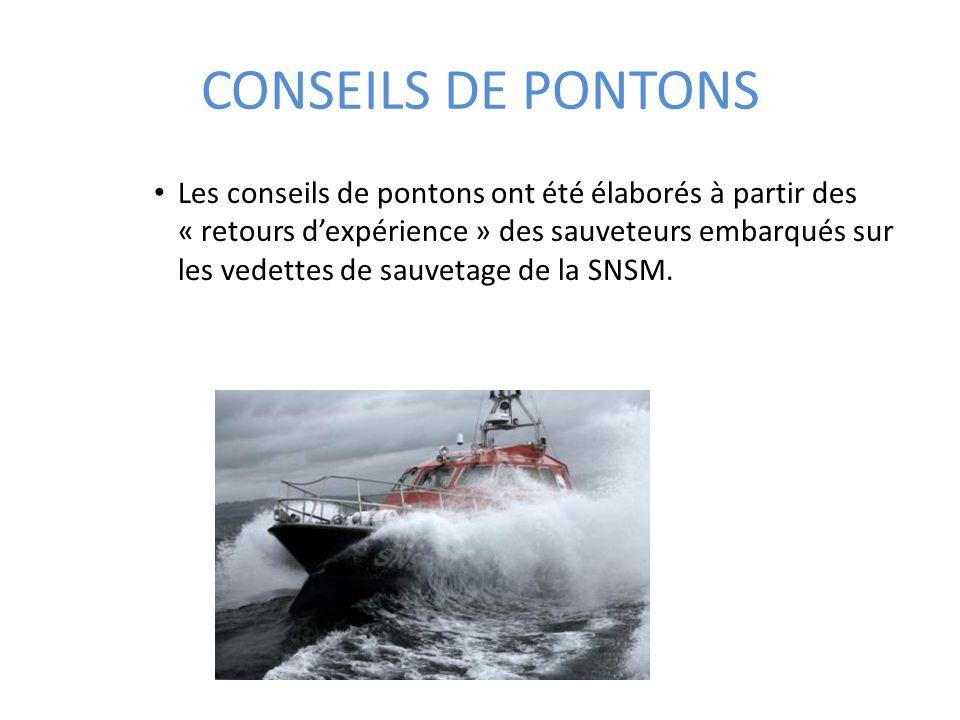 CONSEILS DE PONTONS