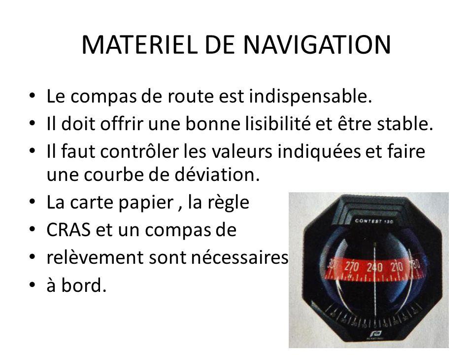 MATERIEL DE NAVIGATION