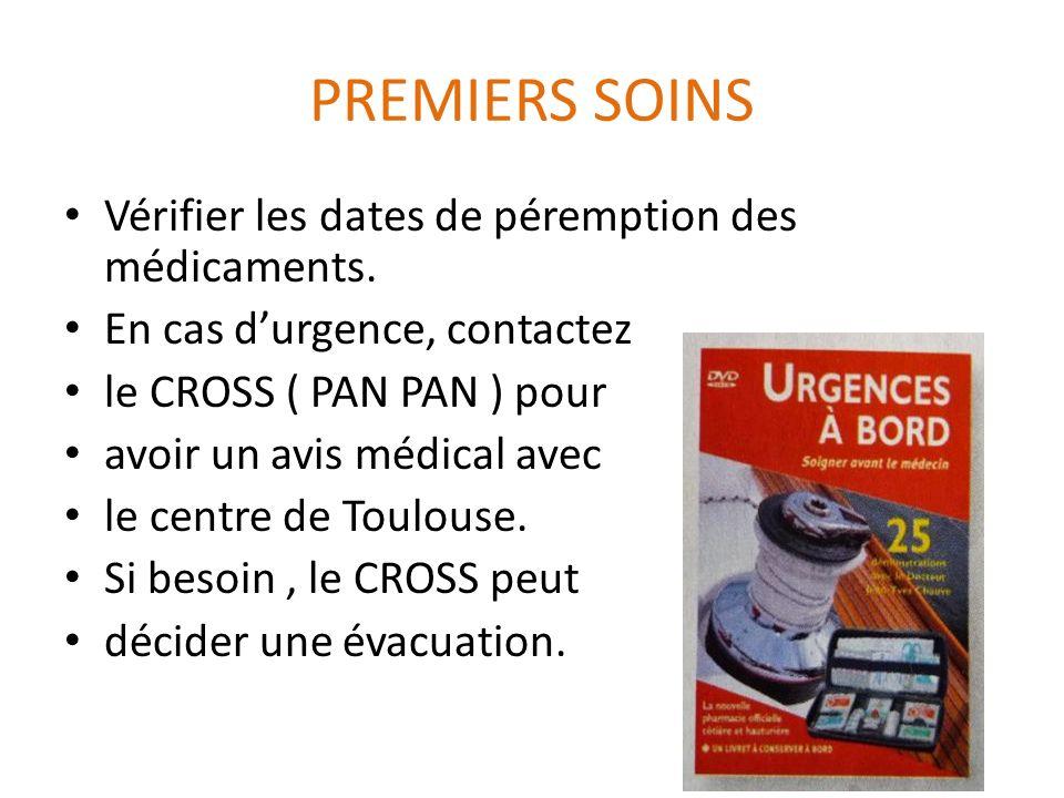 PREMIERS SOINS Vérifier les dates de péremption des médicaments.