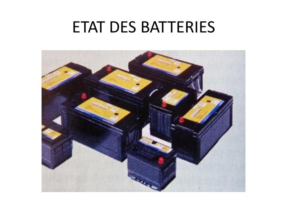 ETAT DES BATTERIES