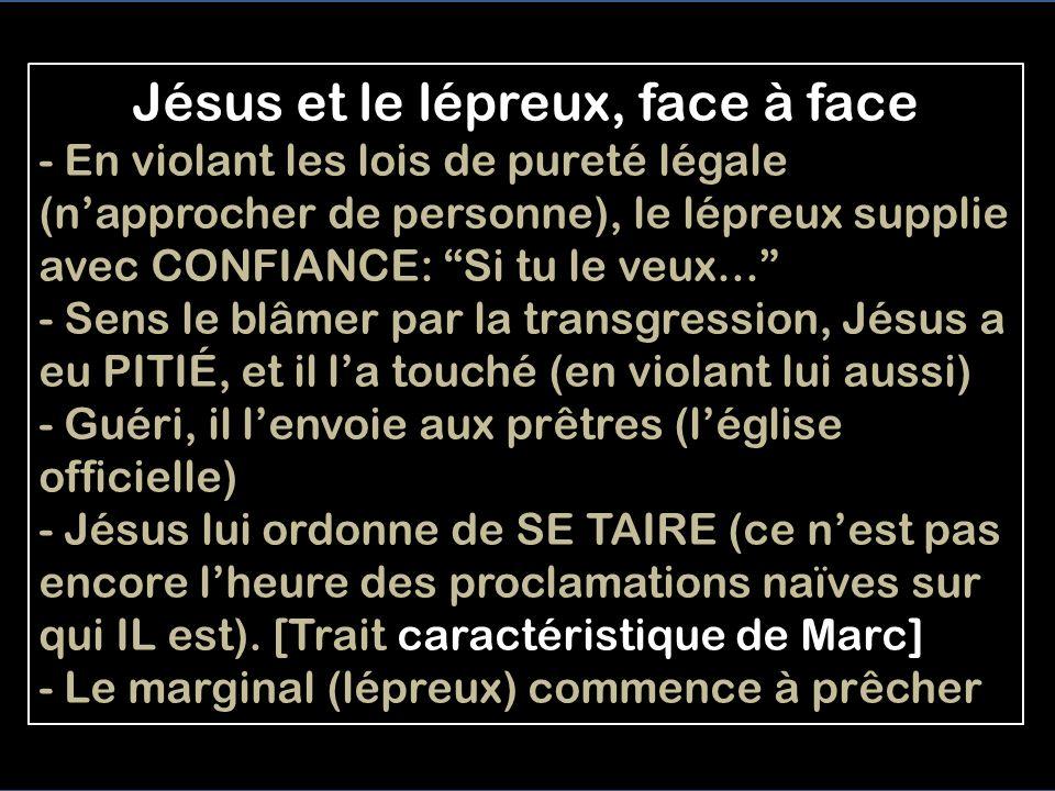 Jésus et le lépreux, face à face
