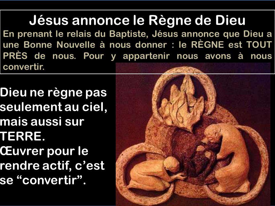 Jésus annonce le Règne de Dieu
