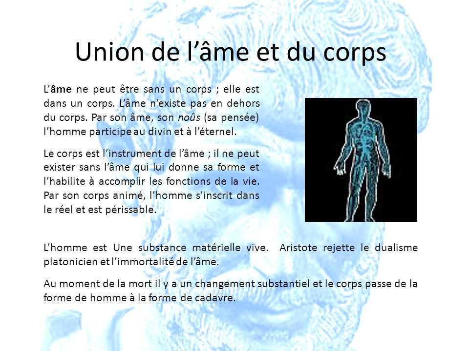 Union de l'âme et du corps