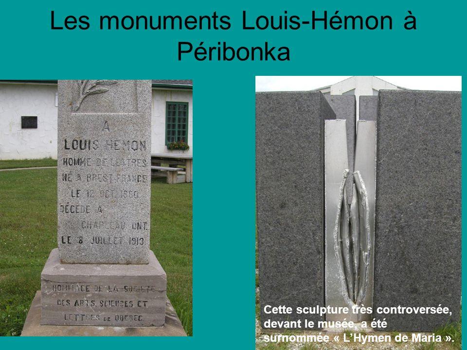 Les monuments Louis-Hémon à Péribonka