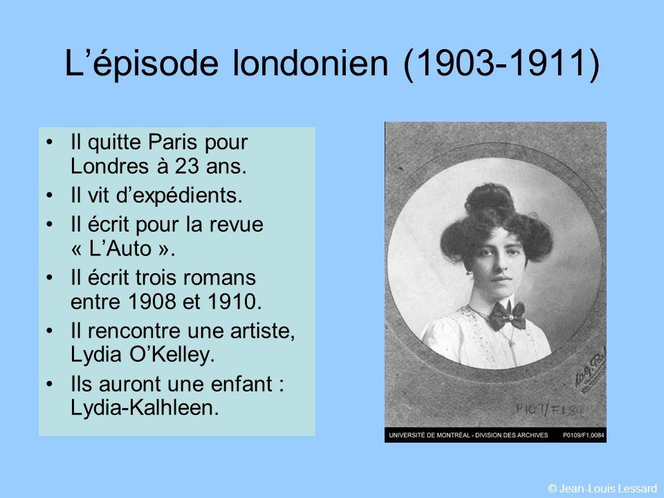 L'épisode londonien (1903-1911)