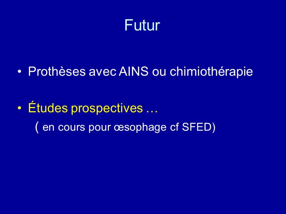 Futur Prothèses avec AINS ou chimiothérapie Études prospectives …