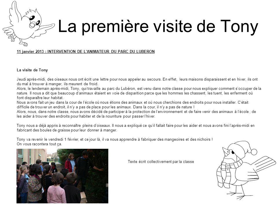 La première visite de Tony