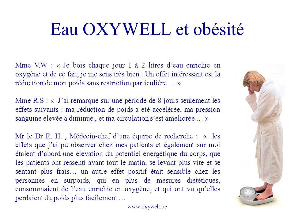 Eau OXYWELL et obésité