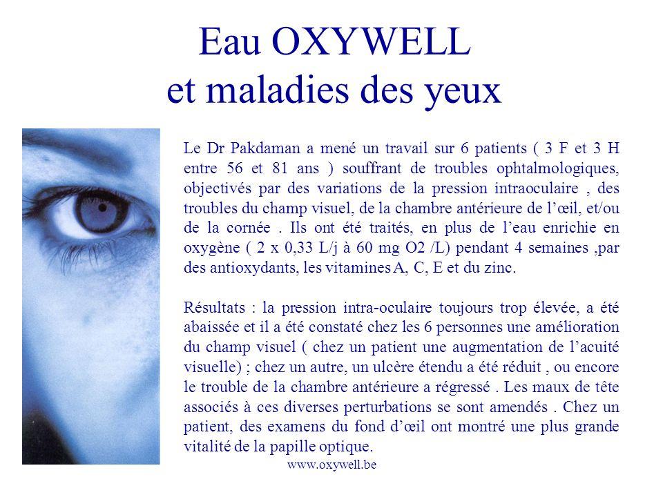 Eau OXYWELL et maladies des yeux