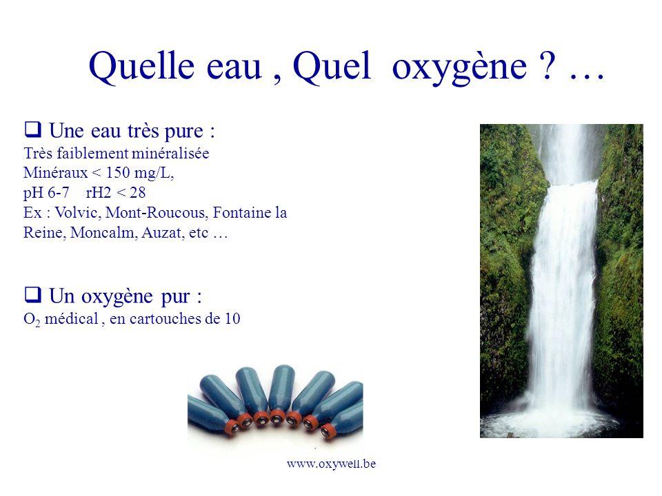 Quelle eau , Quel oxygène …