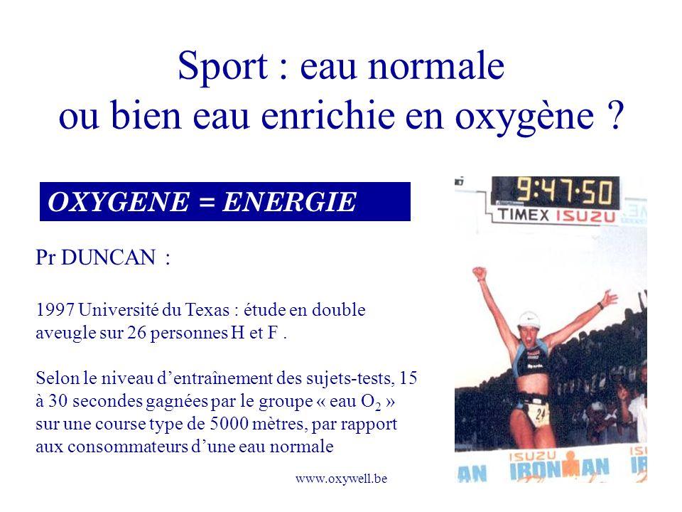 Sport : eau normale ou bien eau enrichie en oxygène
