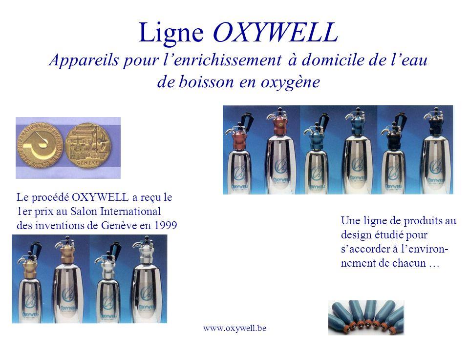 Ligne OXYWELL Appareils pour l'enrichissement à domicile de l'eau de boisson en oxygène