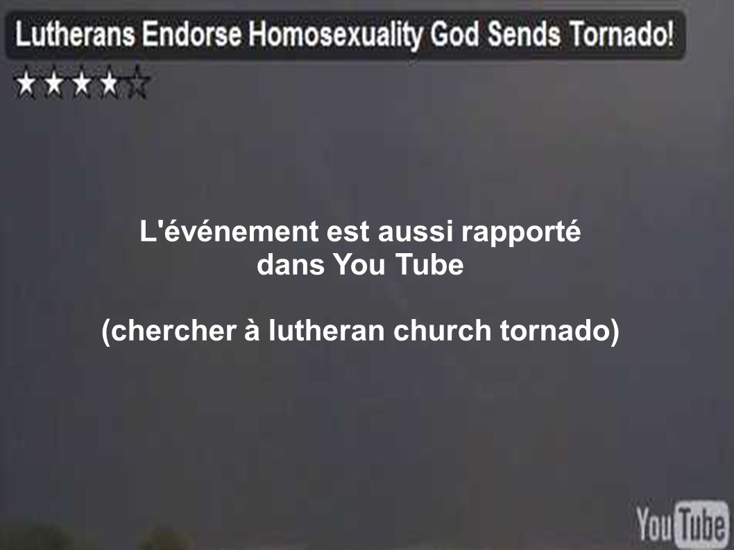 L événement est aussi rapporté dans You Tube
