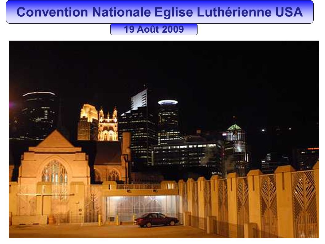 Convention Nationale Eglise Luthérienne USA