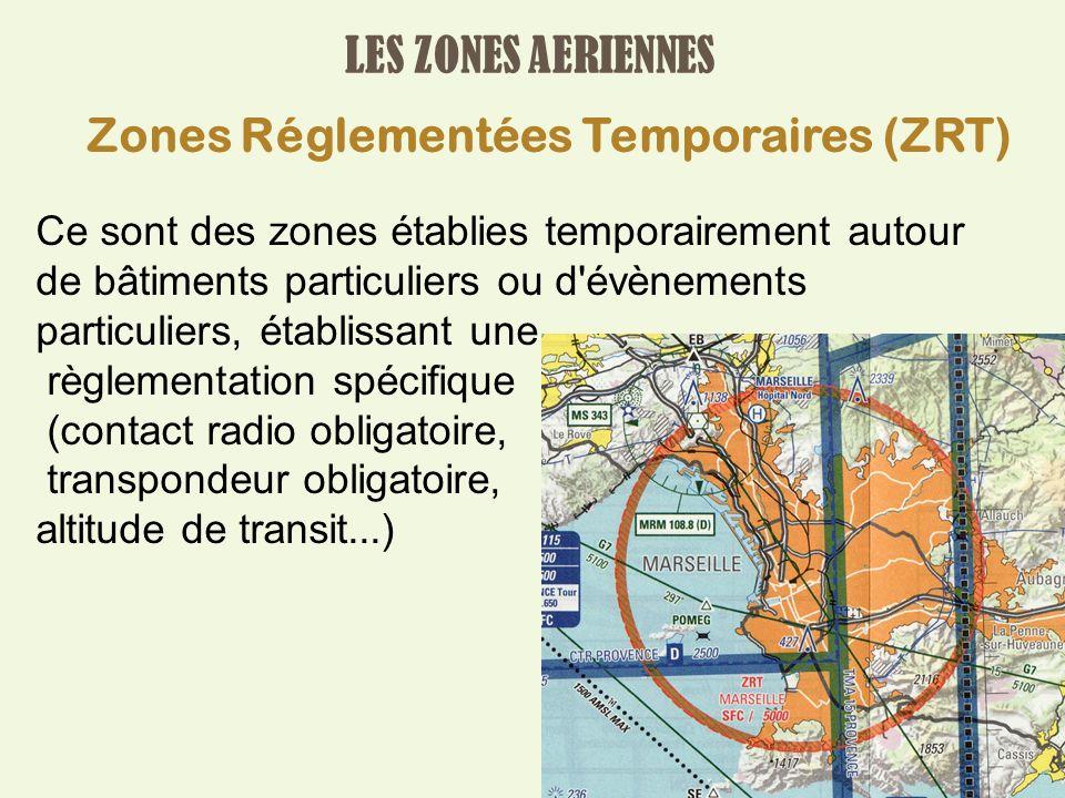 Zones Réglementées Temporaires (ZRT)