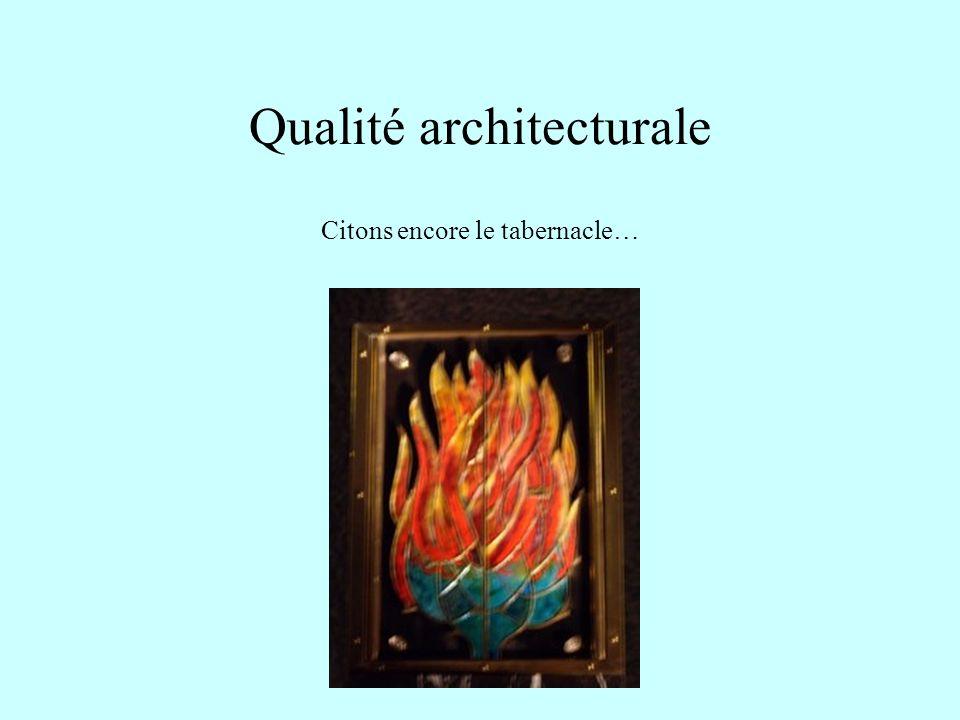 Qualité architecturale