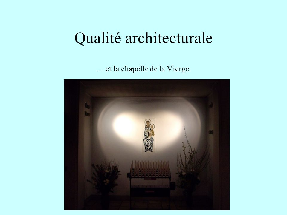 Qualité architecturale