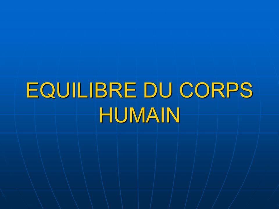 EQUILIBRE DU CORPS HUMAIN