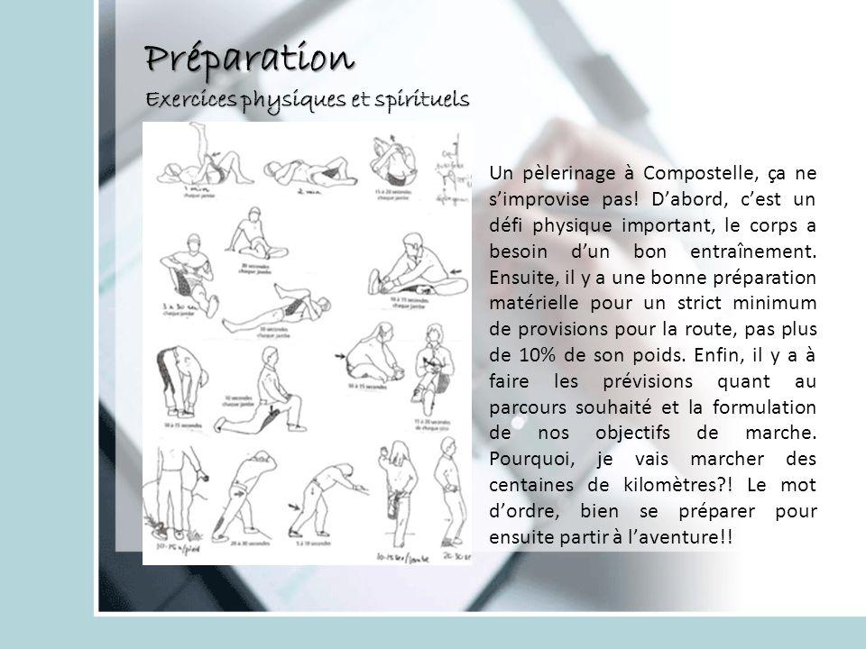Préparation Exercices physiques et spirituels