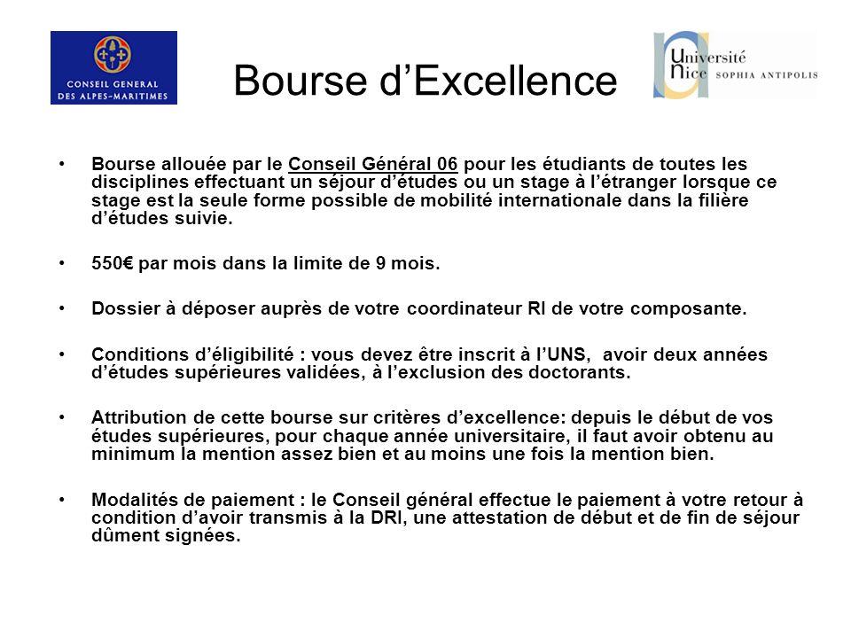 Bourse d'Excellence