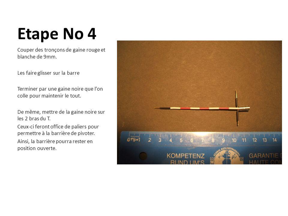 Etape No 4 Couper des tronçons de gaine rouge et blanche de 9mm.