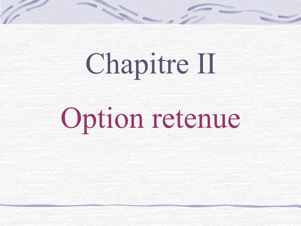 Chapitre II Option retenue