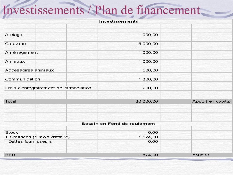 Investissements / Plan de financement