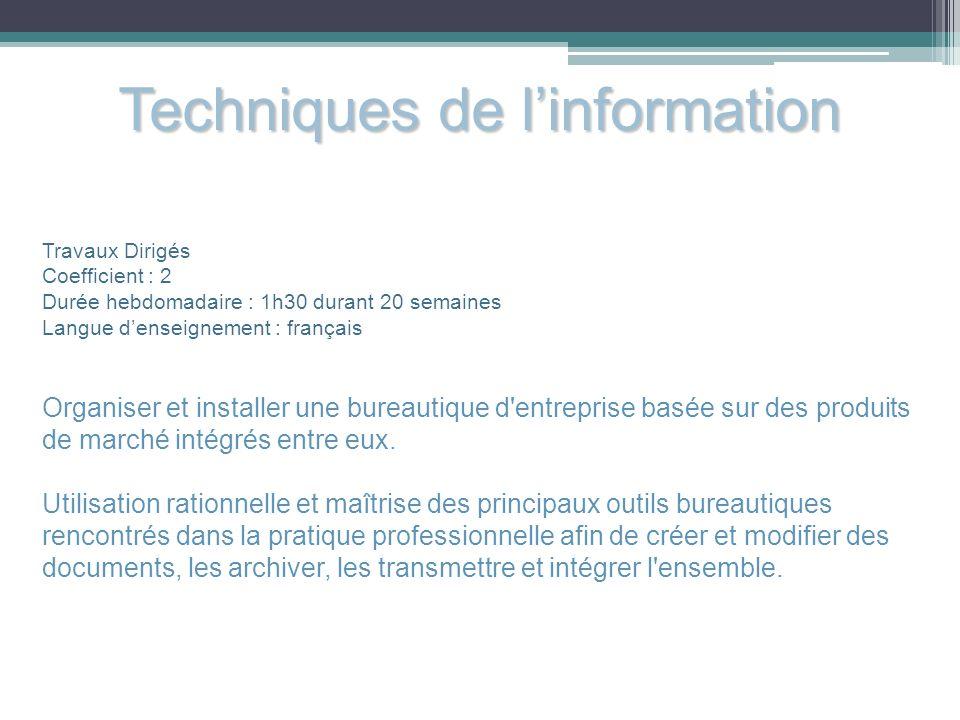 Techniques de l'information