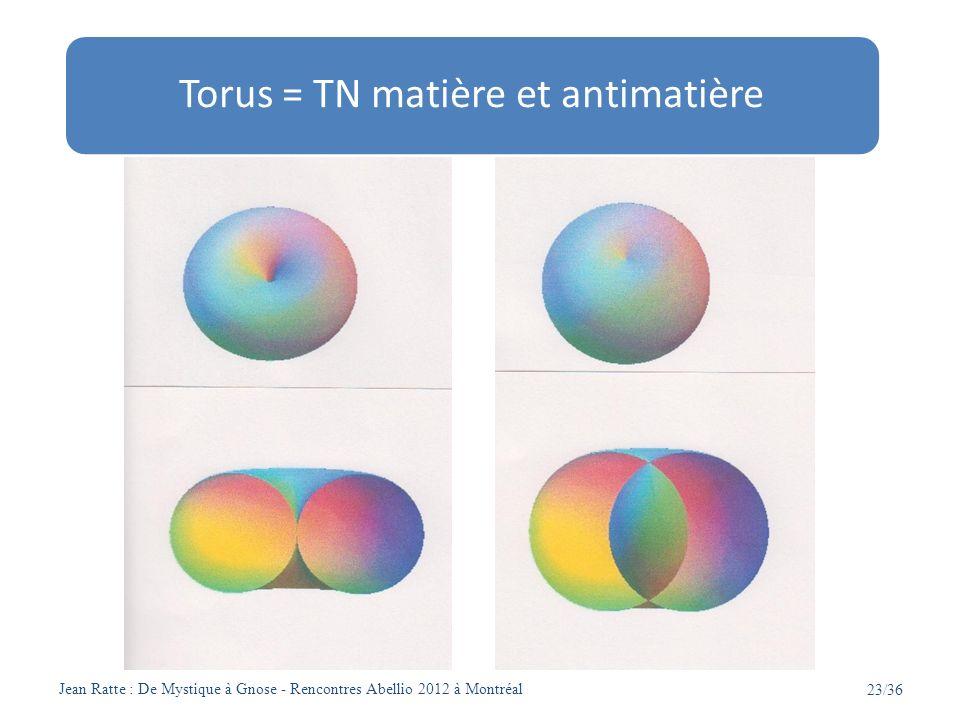 Torus = TN matière et antimatière